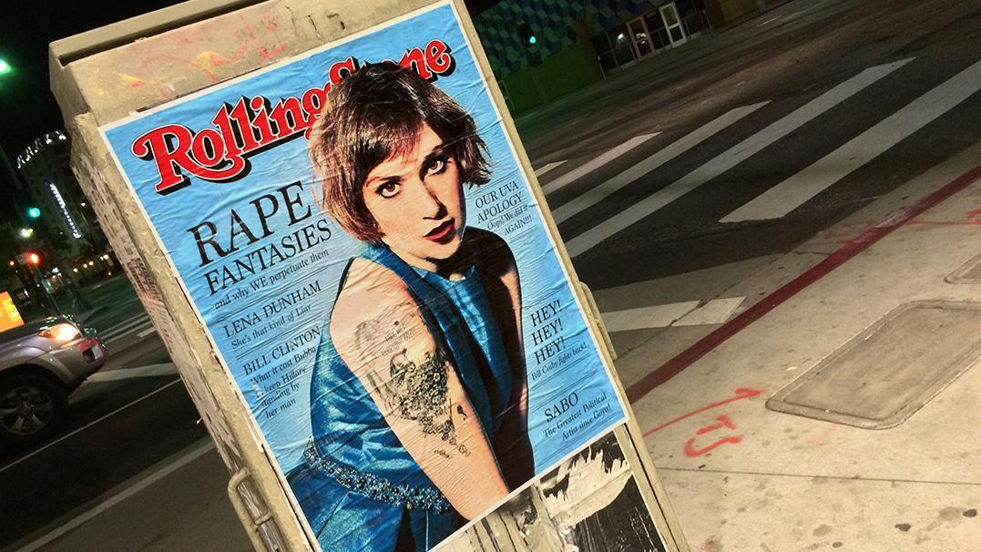 Street Artist SABO Blasts Lena Dunham, Bill Clinton in Fake Rolling Stone Covers