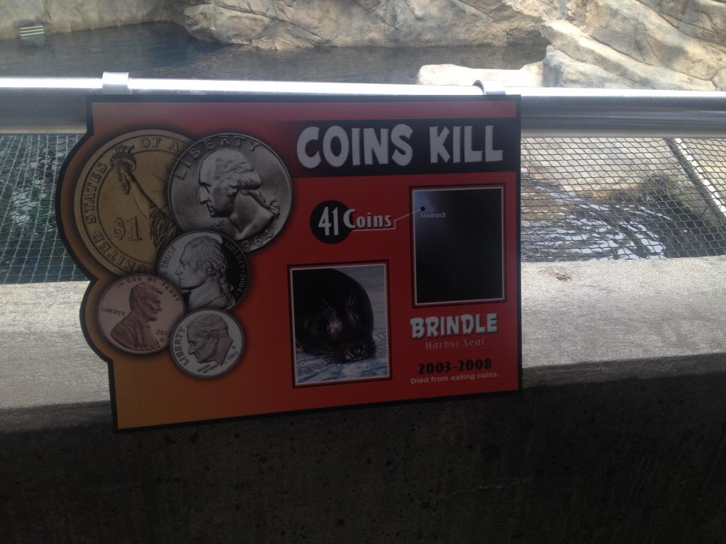 Ashley Kringen (@Ashleykringen): At @okczoo raising awareness about the damaging & deadly effects of throwing coins in the water @kfor http://t.co/u5KCTKdOKB
