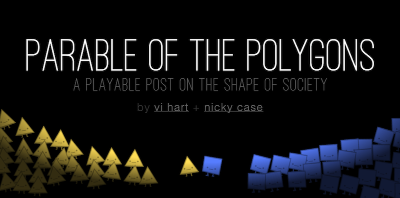 Parable of the Polygons is a playable post on how harmless choices can make a harmful world. http://t.co/JtzkqR4zGO http://t.co/eHwutoMI1d