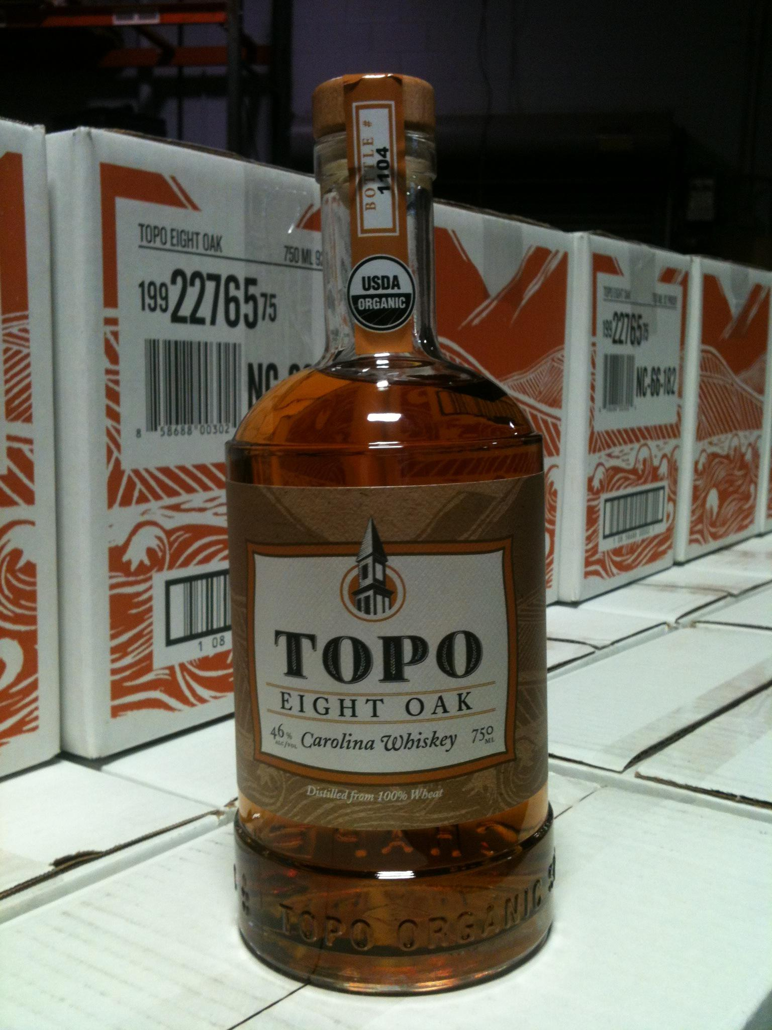 """RT @TOPOdistillery """"We're bottling TOPO Eight Oak Whiskey today! It will be available in NC ABC stores next week."""" http://t.co/AXBpTyjCfz"""