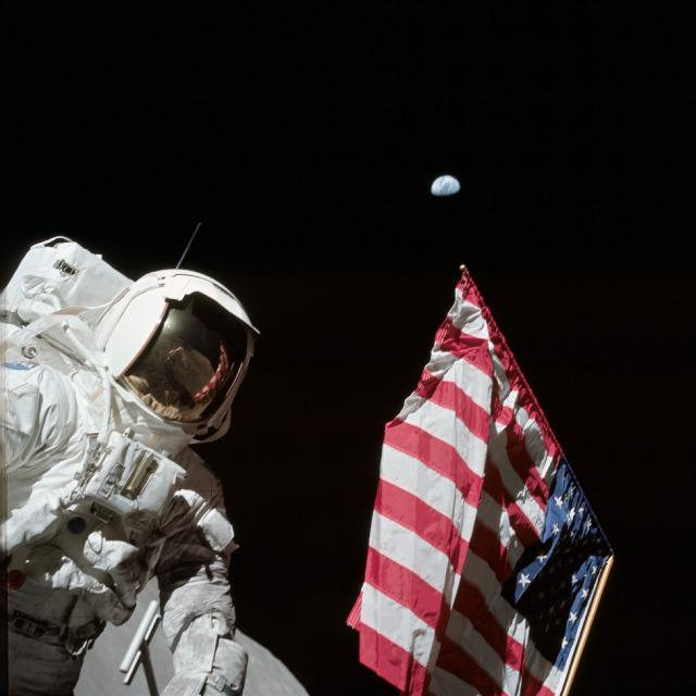 The Apollo 17 crew took this photo on the surface of the Moon #OTD in 1972 http://t.co/DEgCRdH3TW