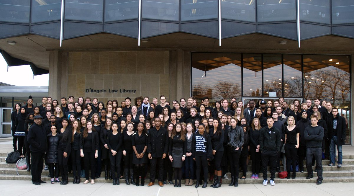 Students and faculty wear black in solidarity with communities of color in the wake of recent grand jury decisions. http://t.co/zOW9XQJ1tk