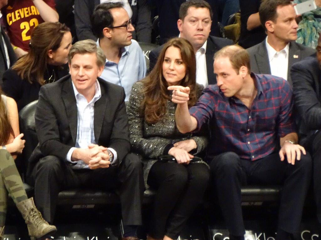 William explaining basketball to Kate. #RoyalVisitUSA