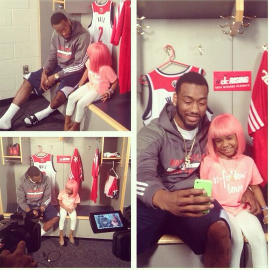 Sorry to hear @JohnWall's buddy Miyah lost her battle w/cancer. Loved seeing them together w/ her @NICKIMINAJ wig http://t.co/hWcnj9wslU