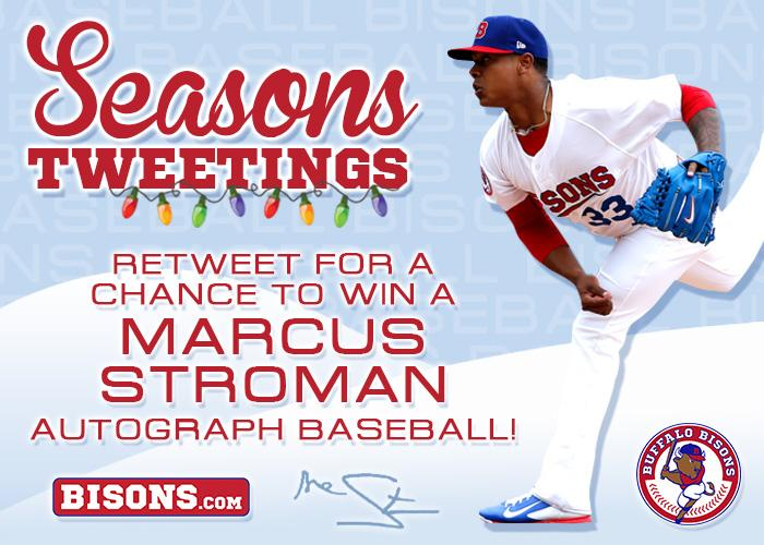 'Seasons Tweeting' #Bisons fans. RT for a chance to win a Marcus Stroman autographed baseball! http://t.co/5GlbdOLbLM