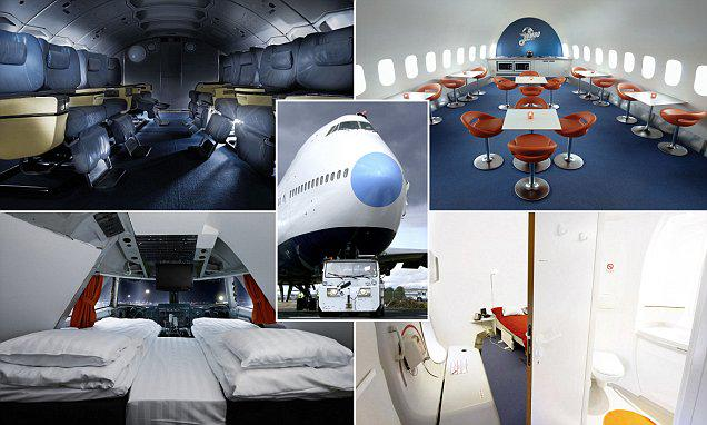 Jumbo jet undergoes £1.5m transformation to become one-of-a-kind hostel in Sweden