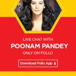 #Talk2PoonamPandeyOnFollo Wanna Talk to me Tomorrow .... at 3PM also a Chance to Win iPhone 6 Download FOLLO App