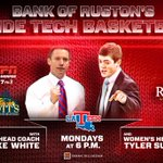 Come out to Scotts Catfish tonight at 6 for the Bank of Rustons Basketball Show! #WeAreLATech http://t.co/xBAM7nll7A