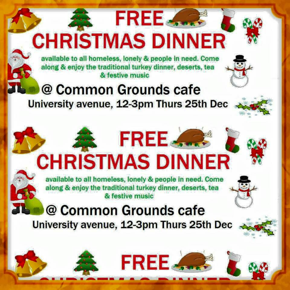 Free Christmas Dinner for those who are homeless or lonely at Christmas. http://t.co/H6PsAvrdYW