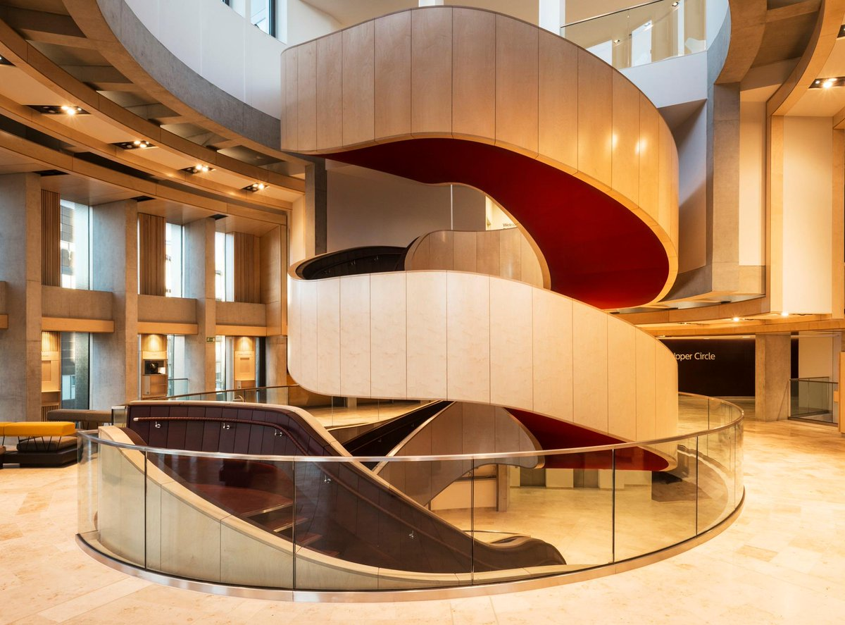 First glimpse of the transformed Theatre Royal: the eye-catching double-spiral staircase at the centre of new foyers. http://t.co/XJ8zS94jUE