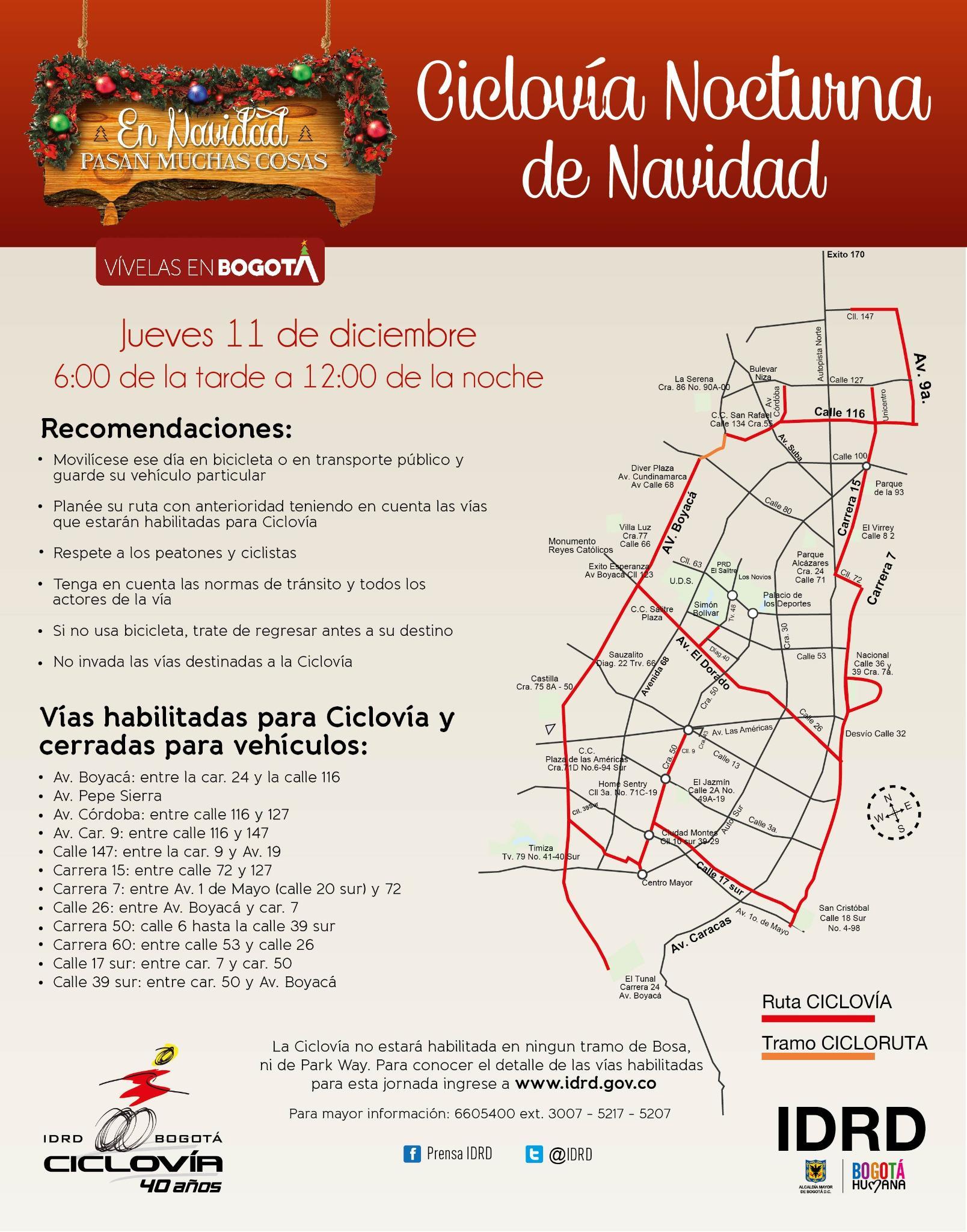 Ciclovia nocturna próximo jueves 11 de Diciembre. cc @CicloviaBogota @IDRD. http://t.co/8EDKcxm5vB #NavidadHumana http://t.co/04uVs4hsma