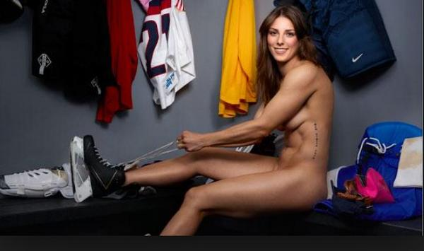 I had this idea that muscular isn't feminine @Hilary_Knight C #BostonBlades @BostonCWHL #pucknaked /@espn #BodyIssue http://t.co/K8sfLxwkYL