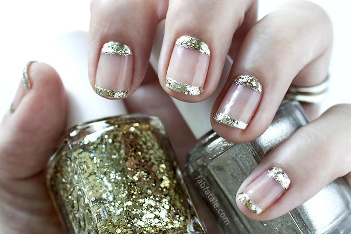 gold encrusted french and moon, featuring @essie winter, today at http://t.co/ICGfn3OHOA #holiday http://t.co/F8ErZtVl9x