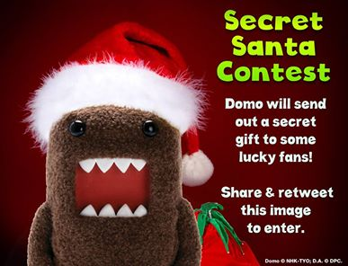 Secret Santa Contest! Domo will send out a secret gift to some lucky fans who retweets this! #SecretSanta #Christmas http://t.co/L57cGJlmuE