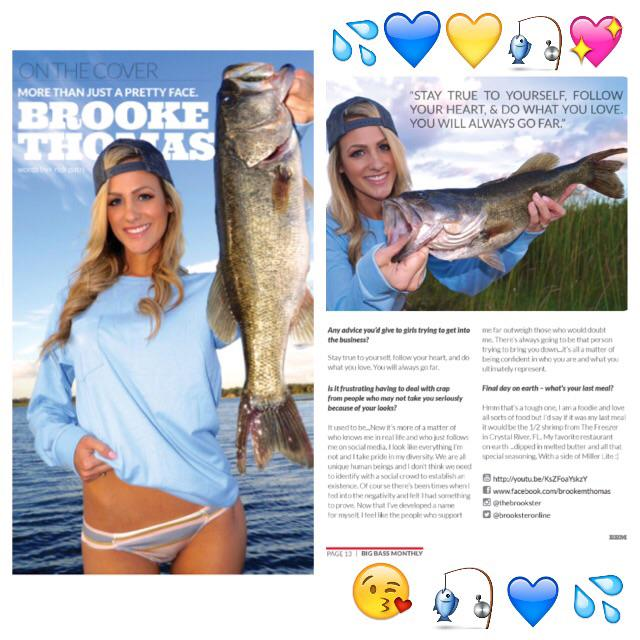 Be sure to check out my feature in the dec issue of bbm for Brooke thomas fishing
