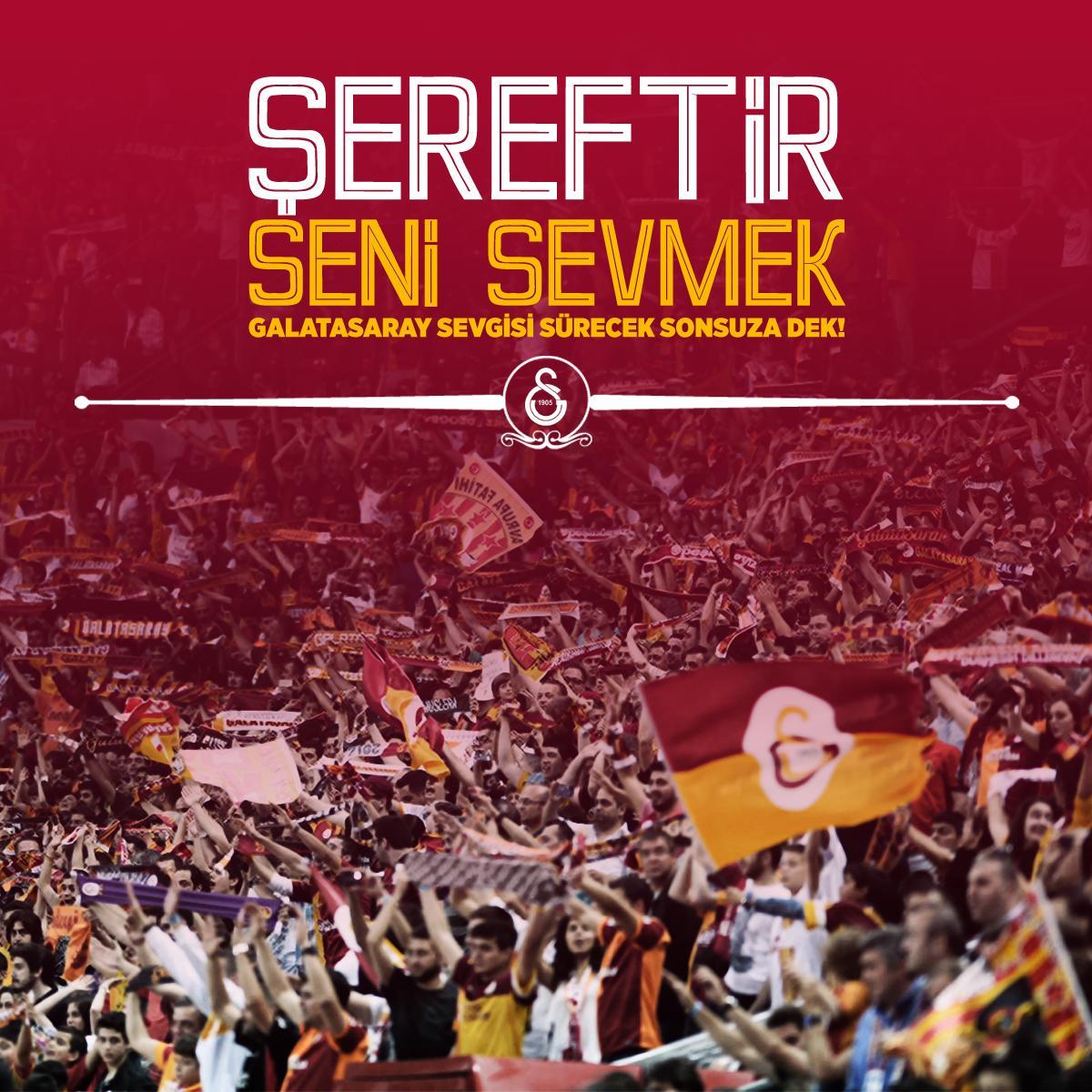Galatasaray SK (@GalatasaraySK): ŞEREFTİR SENİ SEVMEK http://t.co/Q2knUrJgO6