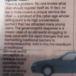 RT @diptakirti: A FAQs on Uber (including this brilliant answer) on its P1 is one reason why The Telegraph is my favourite paper.