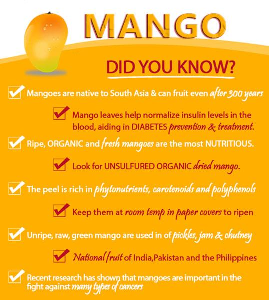 Did You Know Mango Fruits Facts Health Tips
