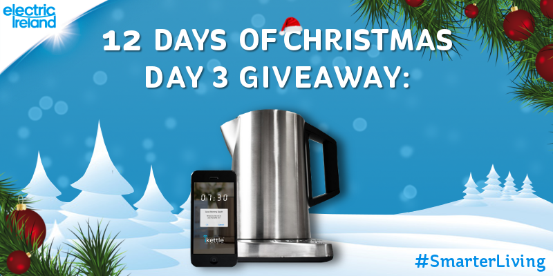 Bring cool tech to your kitchen, win an iKettle in today's Christmas giveaway! Follow & RT to enter! #SmarterLiving http://t.co/liBBFLSiR7