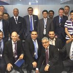 Nokia CEO Rajeev Suri with @nokianetworks team after setting record-breaking speed over TDD-FDD LTE. #ITUWorld http://t.co/w5o4BefIYX