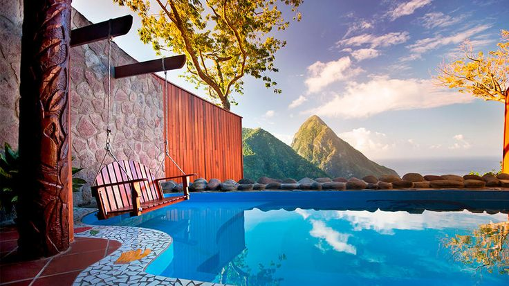 Today's Daily Escape is from Soufriere, St. Lucia.
