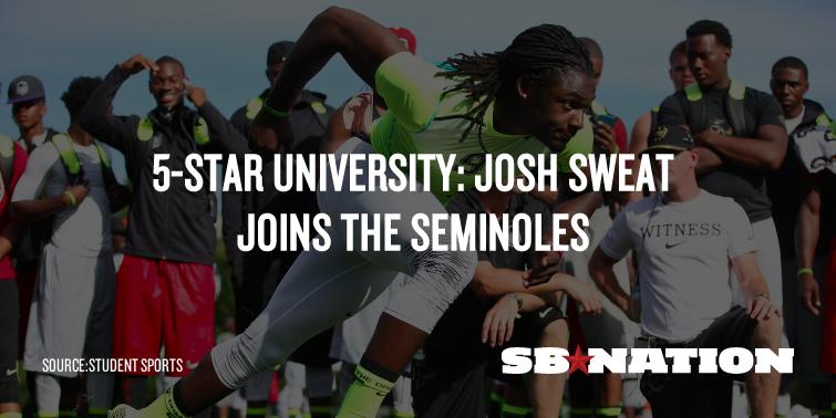 No sweat: #Noles land No. 1 defensive end recruit Josh Sweat http://t.co/kOYkhOXIga #FSU #Tribe15 http://t.co/yfyEYUhQSs