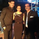 Backstage at the Aditya Birla Awards with my lovely co host Jules @GulPanag and our puppeteer, blues man Brian Tellis