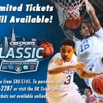RT @UKTix: Looking for the perfect Christmas gift? Limited tix remain for the CBS Sports Classic. Call our office for more info! http://t.c…