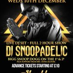 #DJSNOOPADELIC live TONITE @shooshhbrighton s/o to @iforphin ! http://t.co/6kbERAdcfB