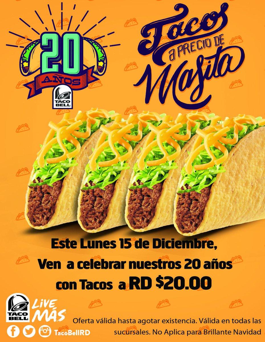 Tacos a precio de Masita, este lunes 15 de diciembre, Tacos Duros a $20.00 #20AniversarioTB http://t.co/N9T6Lznhk4