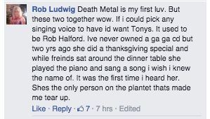 It's so cool how many new fans Gaga has because of C2C. Was reading through Tony's fb page and found this. So cute http://t.co/TA0Wup082w