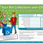Please find below changes to bin collections over Christmas in #Warrington. Please remember to recycle @WarringtonBC http://t.co/JqeqQiNy3t