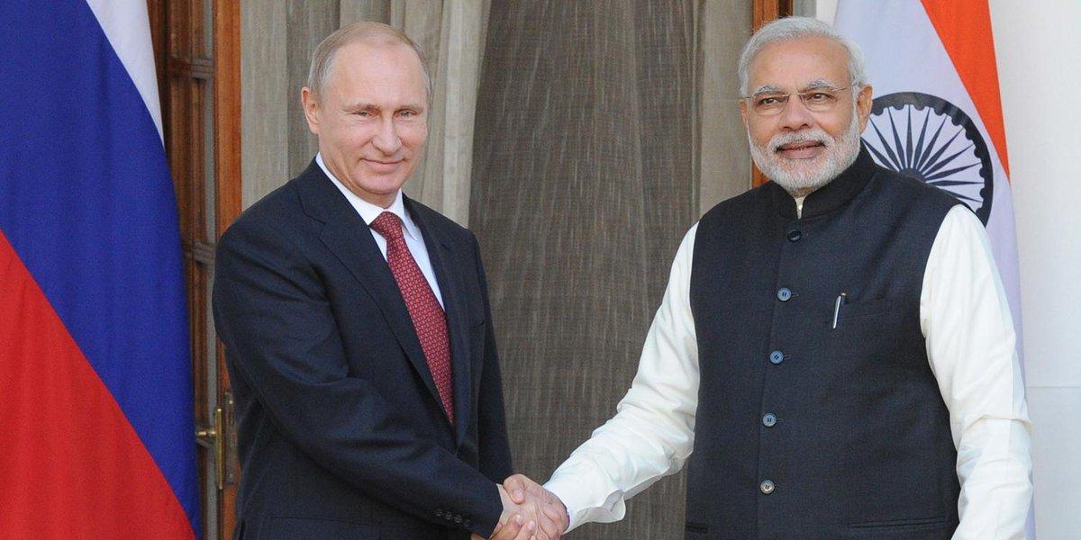 Vladimir Putin held talks with Prime Minister of India @narendramodi in New Delhi http://t.co/yKJL1obBNA http://t.co/S9GtoPW9Dv