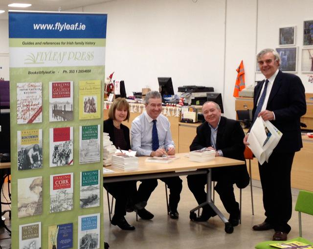 Great launch of Tracing Kildare Ancestors with Johnny Doyle last night. Order now @flyleafpress @kildarelibrary http://t.co/T7aHK67RG1