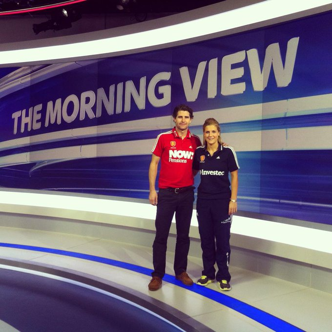 Georgie Twigg @georgietwigg: @SkySportsNewsHQ interview this morning with @SMantell8 tune into Sky Sports 1 for the men's game in 45mins #CT2014 http://t.co/1oVghCkuV6