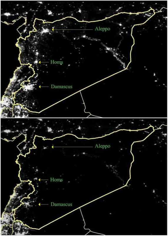 Very sad photo from space, Missing lights of Syria.  #Syria http://t.co/NPsQtABBAH