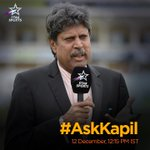 RT @StarSportsIndia: Got a question for Kapil Dev? Tweet in your questions using #AskKapil and the great man himself will answer them! http…