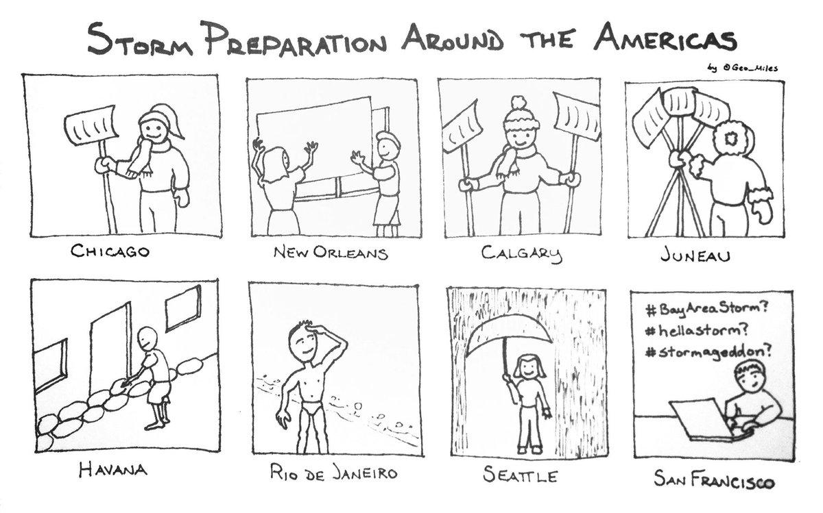 "Perfection! ""@SF_CableCar: #muchstorm? #veryrain? @Geo_Miles Storm preparation around the Americas http://t.co/KJBllv7r7h» #HELLASTORM"" #fb"
