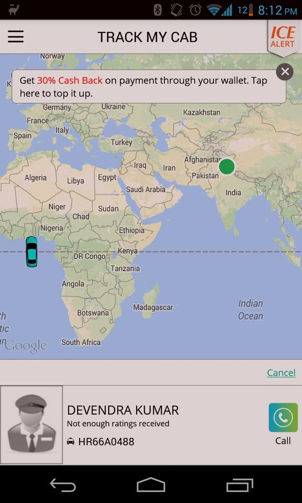 Umm Meru, I think my cab might take a while to reach. http://t.co/OnnBbqURKH