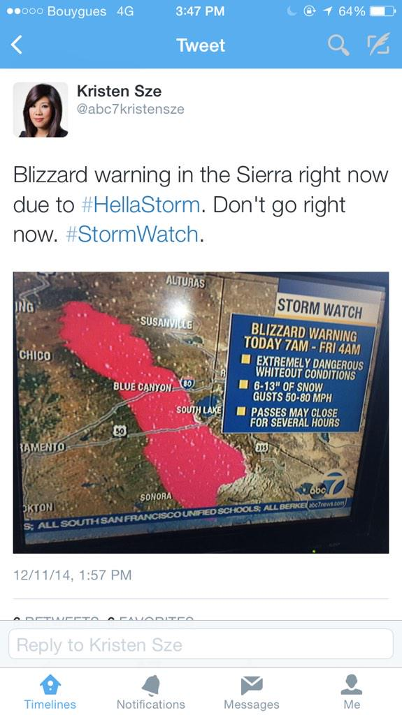 "lol at the news lady using ""#hellastorm"" http://t.co/P8HP72qEF5"