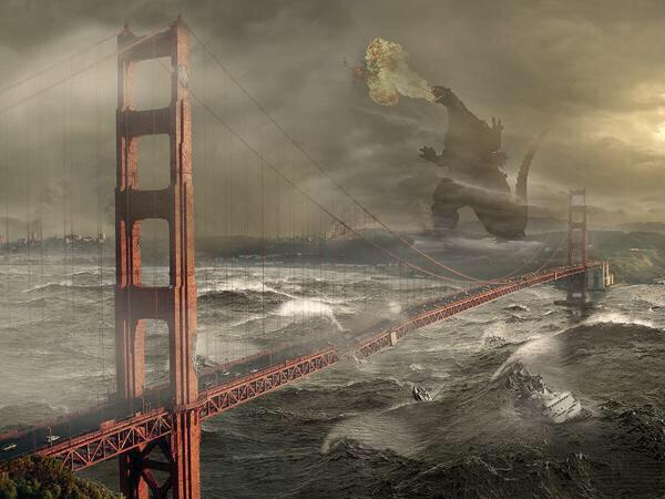 "Hahah!: ""@nickhjeltness: Live shot of San Francisco. Not photoshopped at all. #HellaStorm #HurricaneHyphy http://t.co/sCSNyZjNPo"""""