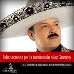 RT @SonyMusicLatin: ¡Felicitaciones a @PepeAguilar por su nominación a los #GRAMMYs! http://t.co/5dL8KWLSHI ^Staff Pp