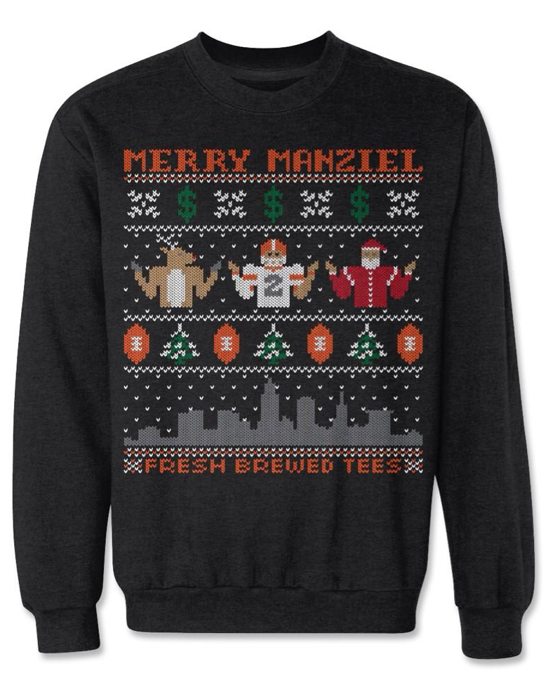 Here\'s the johnny manziel ugly christmas sweatshirt from ...
