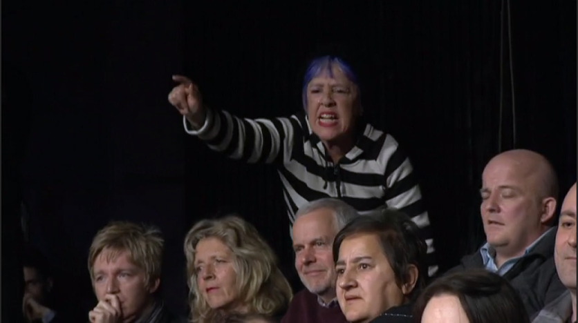 THIS AUDIENCE LADY HAS HAD A BAD DAY, WHICH BEGAN EARLIER DURING HER BLUE RINSE MISHAP AND ENDED WITH LASERING #BBCQT http://t.co/7ARTR2nYkm