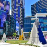 MT @cityofmelbourne Have your explored the brand new Monument Park at Docklands #melbourne http://t.co/Xw9WOraiDN http://t.co/ganztSkKjm