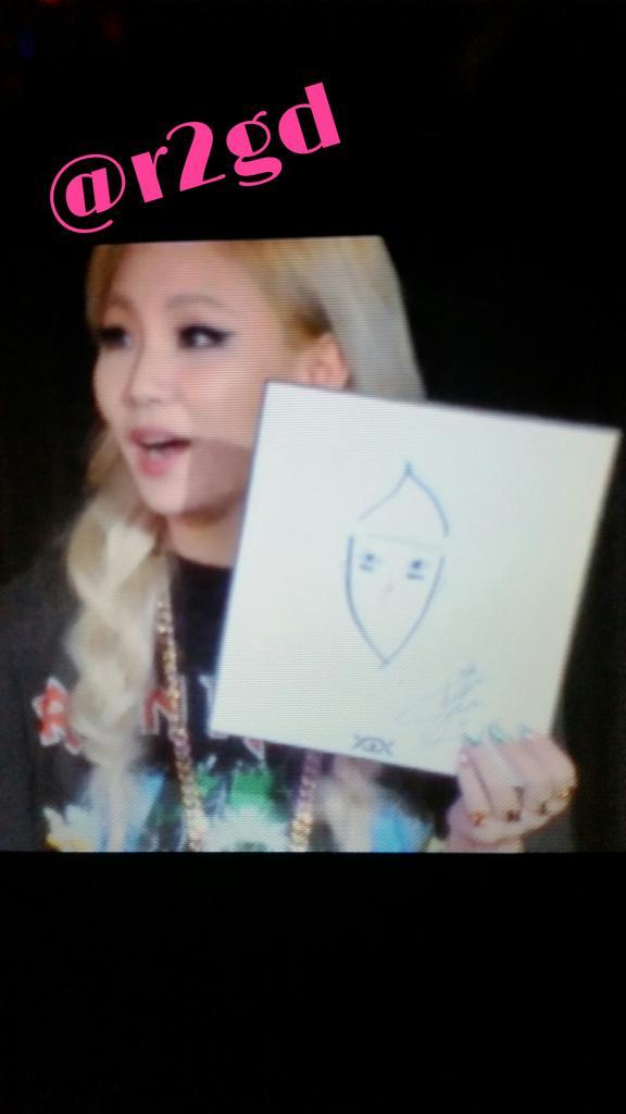 CLが描いたスンリの絵wwwどんぐりwww #2NE1 #CL #FANEVENT #VI http://t.co/Ut9Sq64C6O