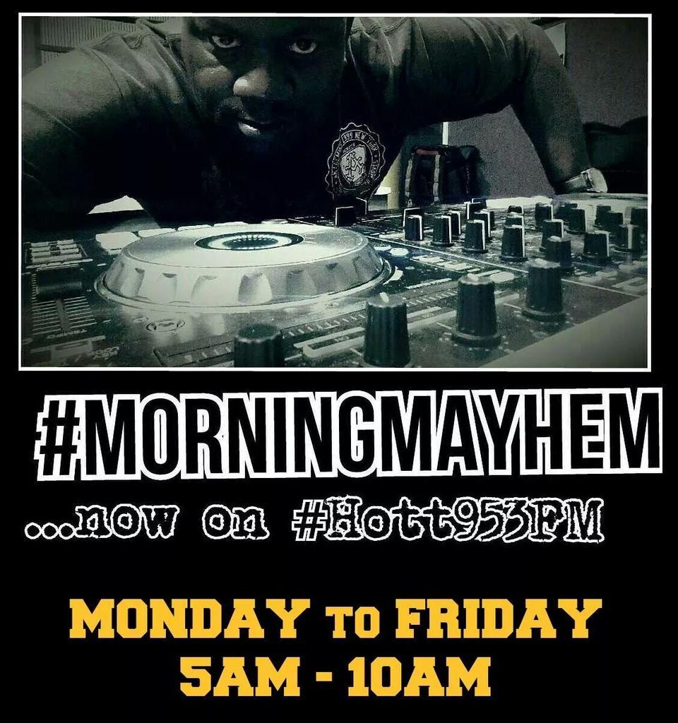 GOOOOOOOOD MORNIN'!! #MorningMayhem NOW!!   Hott 95.3 on TuneIn App, or Whatsapp at (246) 822-7878  LINK UP!! http://t.co/vLBHWrjYOw