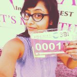 RT @Sangsterr: Today's selfie has to be the happiest part of the day..getting my first bib! @Pinkathon10K #MirchiSelfieQueen http://t.co/Ko…