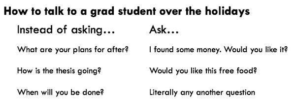 A public service announcement from @paulisci about talking to grad students over the holidays. http://t.co/tYBqANWEfq
