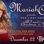 RT @LiveNationNYC: Tickets for @MariahCarey's 6th & final show at @BeaconTheatre just went on sale! Info: http://t.co/9YaPCXyb8V